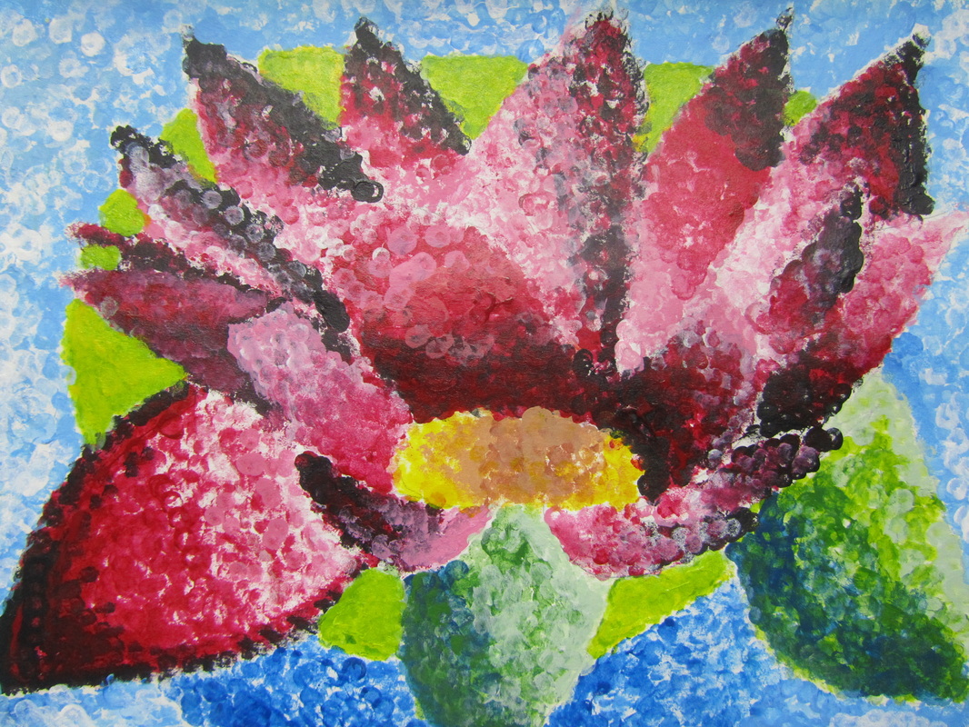 Pointillism Flowers pointillism flowers (high school art at wise ...